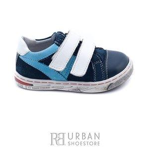 Pantofi din piele naturala box, velur, pentru copii – 126 blue