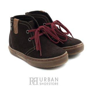 Pantofi din piele naturala intoarsa velur pentru copii – 107-c maro