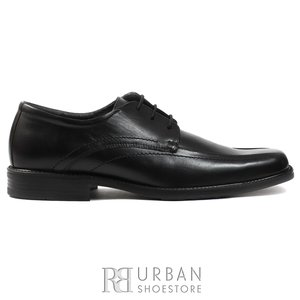 Pantofi eleganti barbati din piele naturala cu varf patrat, Leofex - 607 negru box