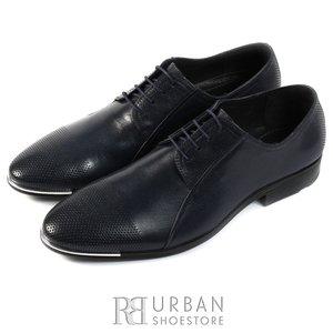 Pantofi eleganti barbati din piele naturala de bivol,Leofex - 743 blue box