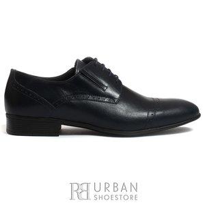 Pantofi eleganti barbati din piele naturala de bivol,Leofex - 791 blue box