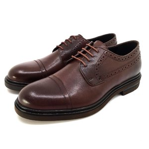 Pantofi eleganti barbati din piele naturala Leofex - 1000 Red Wood Box