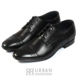 Pantofi eleganti barbati din piele naturala, Leofex - 115-2 negru box
