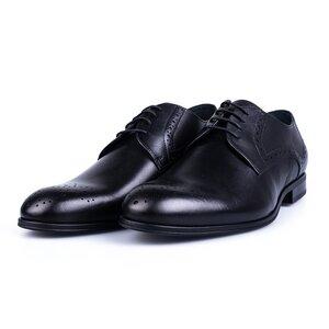 Pantofi eleganti barbati din piele naturala Leofex -512 Negru Box