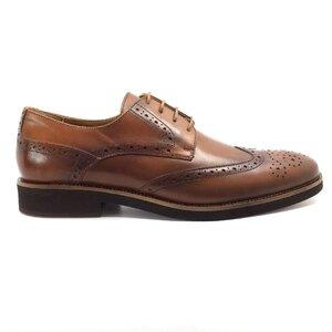 Pantofi eleganti barbati din piele naturala, Leofex - 514 Cognac box