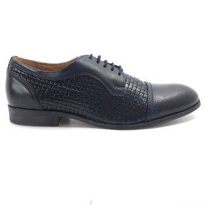 Pantofi eleganti barbati  din piele naturala, Leofex- 525 Blue box