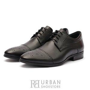 Pantofi eleganti barbati din piele naturala, Leofex -529 Negru Box