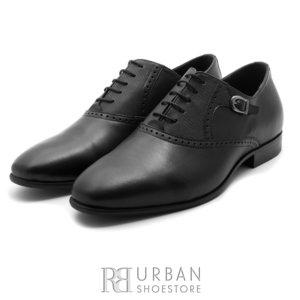 Pantofi eleganti barbati din piele naturala,Leofex - 824 negru box
