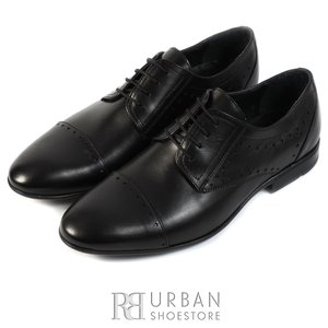 Pantofi eleganti barbati din piele naturala,Leofex - 828 negru box