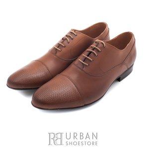 Pantofi eleganti barbati din piele naturala,Leofex - 834 Cognac box