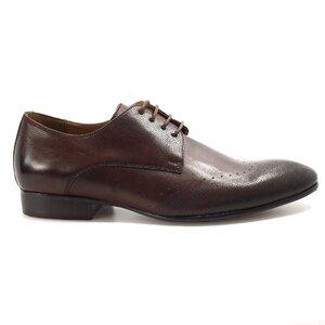 Pantofi eleganti barbati din piele naturala, Leofex - 889 Ciocolata box