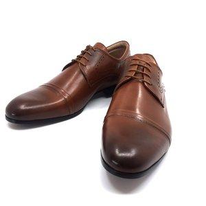 Pantofi eleganti barbati din piele naturala, Leofex - 953 Cognac Box