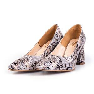 Pantofi eleganti dama din piele naturala - 1990 Paun box