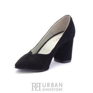 Pantofi eleganti dama din piele naturala - 1997 Negru Velur