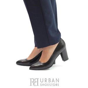 Pantofi eleganti dama din piele naturala  - 558- TG Negru