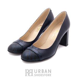 Pantofi eleganti dama din piele naturala  - 784-22 blue