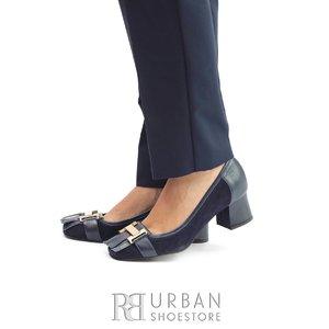 Pantofi eleganti dama din piele naturala cu franjuri- 418-9 Blue Box