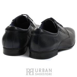 Pantofi eleganti Derby din piele naturala - 793 blue
