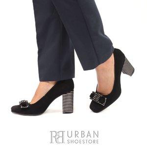 Pantofi eleganti din piele intoarsa- 1886 Negru