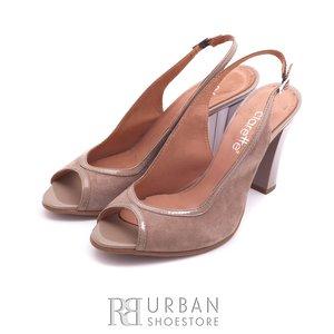 Sandale elegante din piele intoarsa - 390  taupe