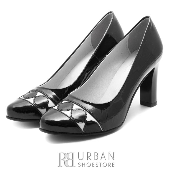 Pantofi eleganti din piele naturala - 065 Negru