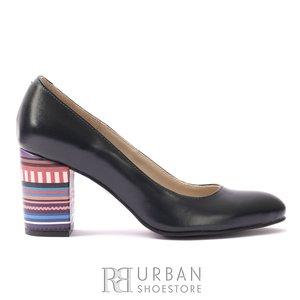 Pantofi eleganti din piele naturala - 1807 Blue Box