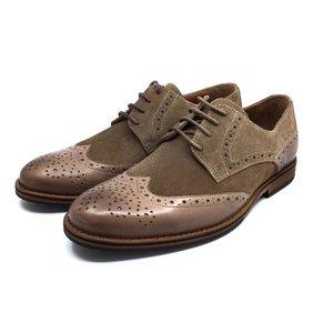 Pantofi eleganti din piele naturala- 514 Taupe Velur