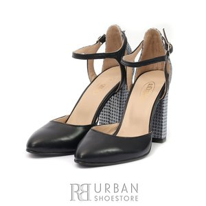 Pantofi eleganti din piele naturala- 54 Blue