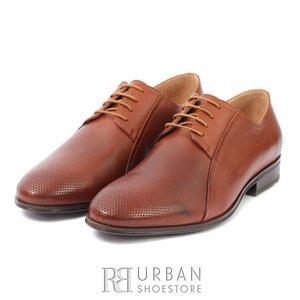 Pantofi eleganti din piele naturala - 743 Cognac Box