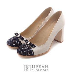 Pantofi eleganti din piele naturala - 769 Bej Blue