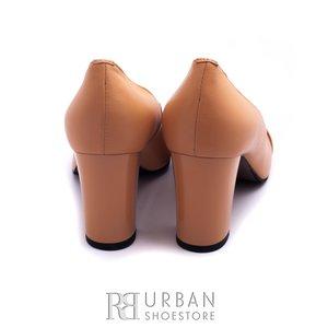 Pantofi eleganti din piele naturala - 796 B galben