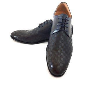 Pantofi eleganti din piele naturala - 897 Blue