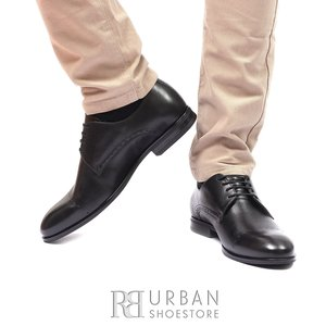 Pantofi eleganti din piele naturala 931 Negru Box