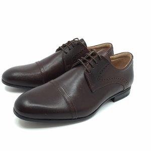 Pantofi eleganti din piele naturala - 953 Maro Box