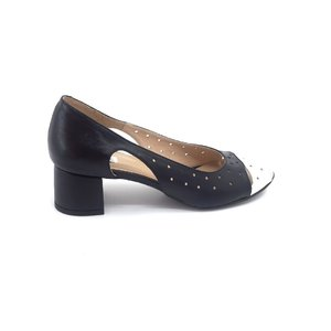 Pantofi eleganti din piele naturala decupati - 218 Blue Alb