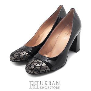 Pantofi eleganti din piele naturala lacuita - 796 negru