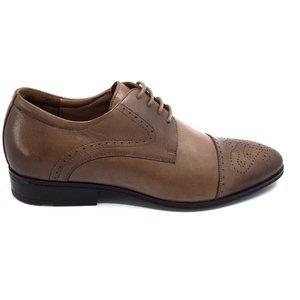 Pantofi eleganti din piele naturala Leofex-529  Taupe