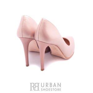 Pantofi eleganti din piele naturala sidefat - 016-744 nude