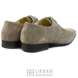 Pantofi Derby din velur - 112-7 taupe