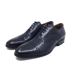 Pantofi Oxford barbati din piele naturala- 748 Blue