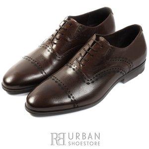 Pantofi Oxford din piele naturala Leofex - 748 maro