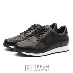 Pantofi sport barbati din piele naturala Leofex - 519 Negru Box
