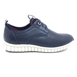 Pantofi sport-casual din piele naturala - 942* blue