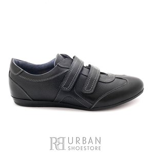 Pantofi sport dama din piele naturala, Leofex - 553 Negru box