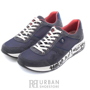 Pantofi sport barbati din piele naturala, Leofex - 883  blug sint