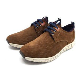 Pantofi sport din piele intoarsa - 942 Cognac Velur