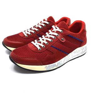 Pantofi sport din piele intoarsa Leofex - 883-1 rosu