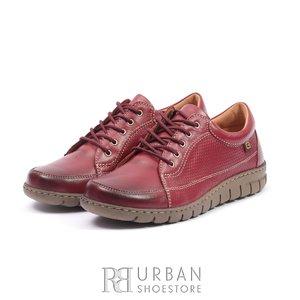 Pantofi sport din piele naturala - 092 visiniu box