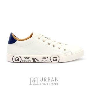 Pantofi sport din piele naturala - 881-1  Alb Box