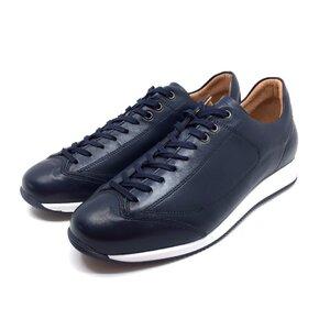 Pantofi sport din piele naturala Leofex - 517 Albastru